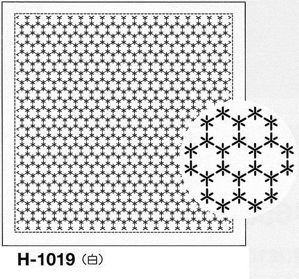 直営店 美しい針目の一目刺し ひとめざし 印刷された図案は洗うと消えます .オリムパス 刺し子 花ふきん 布パック 激安挑戦中 角亀甲つなぎ H-1019 一目刺し さしこ 刺しゅう 刺繍 白 技法