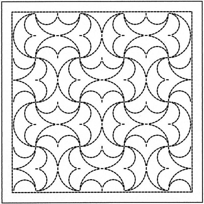 .オリムパス 刺し子 花ふきん 布パック 半丸つなぎ ( はんまるつなぎ ) 白 伝統柄 H-1038  刺しゅう 伝統的 刺繍 技法
