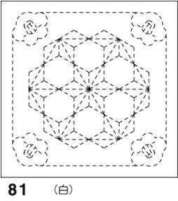 .オリムパス 刺し子 花ふきん 布パック 椿と飛び麻の葉 ( つばきととびあさのは ) 白 和柄 81  刺しゅう 伝統的 刺繍 技法