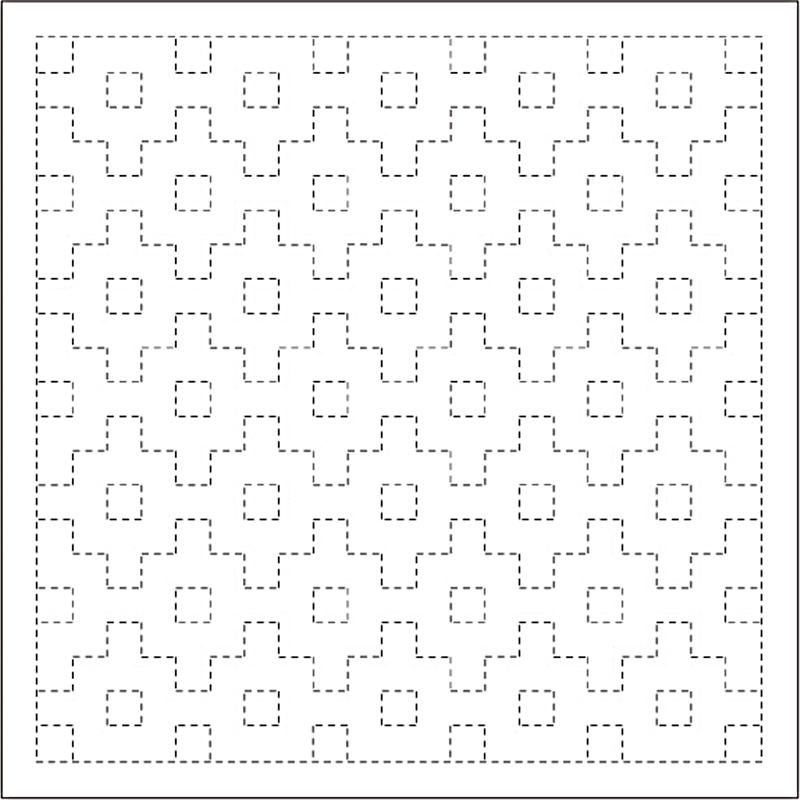 DARUMA 教材 レクリエーション 作業療法にもおすすめ 爆買い送料無料 .横田 ダルマ 刺し子 ふきん 本物 角十つなぎ 技法 1005 刺繍 伝統柄 刺しゅう さしこ 白 模様刺し