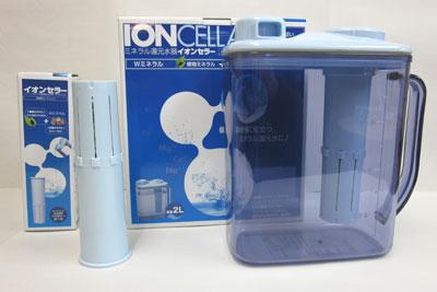 【送料無料】簡単ミネラル還元水イオンセラーポット2L[IC2000](カートリッジ付)&専用カートリッジ[IC2000C]1ケ