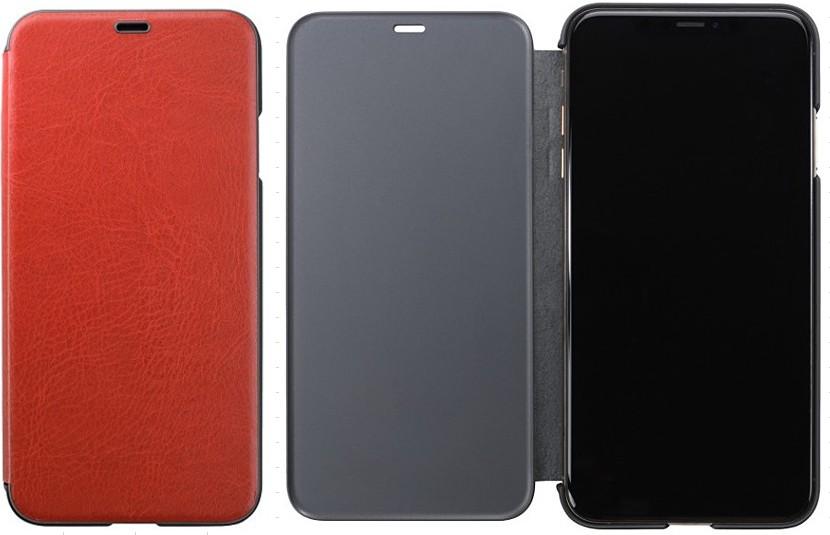 iphone 世界の人気ブランド 大人気! XR用 フリップケース レッド