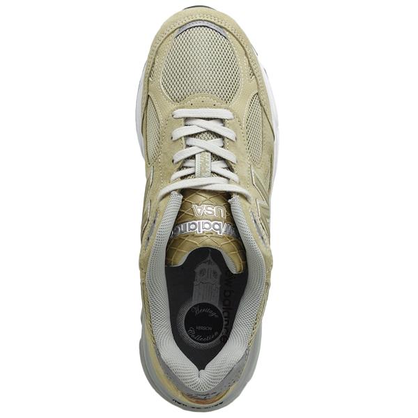 新平衡M990BG3 NEW BALANCE M990淺駝色990男子的運動鞋990V3