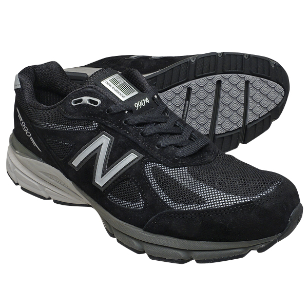 buy online 3c35b f8add New Balance M990BLE4 NEW BALANCE Reflective M990 black 990 men's sneakers  990V4