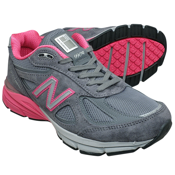 san francisco 36807 d76fa ニューバランス レディース W990GP4【普通幅 Width:D】 NEW BALANCE W990 グレー / ピンク 990【Made in  U.S.A. 正規品】 ...