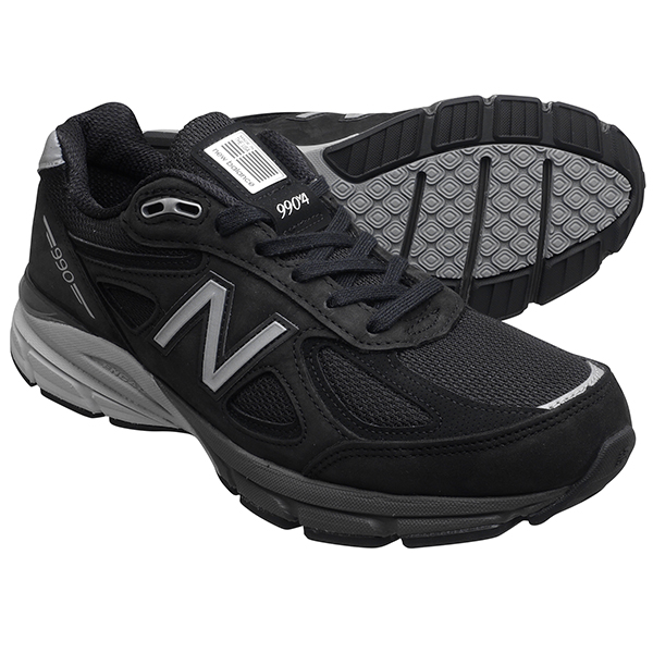 new products ffb65 fa0ef New Balance M990IB4 NEW BALANCE M990 black   silver 990 men s sneakers  990V4 ...