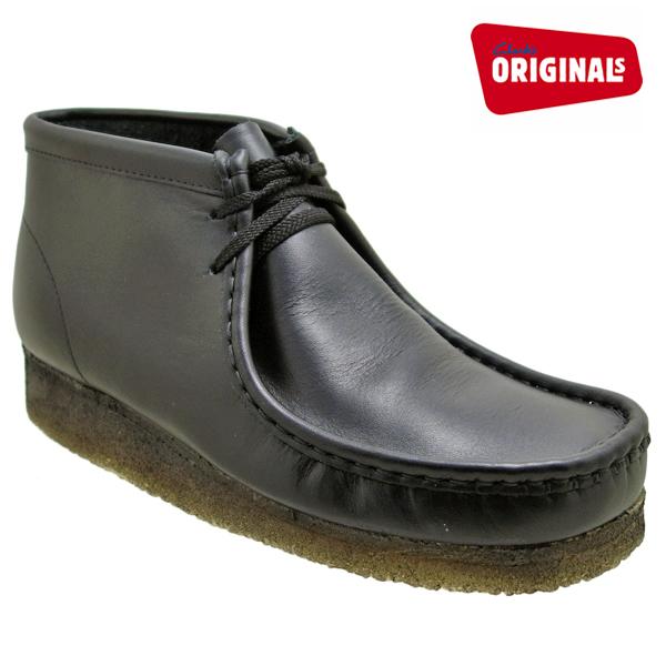 クラークス ワラビーブーツ ブラックレザー CLARKS WALLABEE BOOT 35401 BLACK LEATHER ≪USA直輸入・正規品≫ メンズ ブーツ クラークス