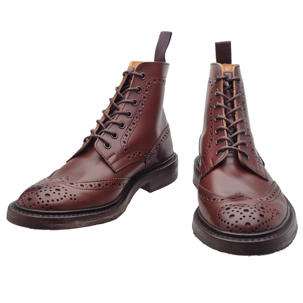 torikkazukantoributsudainaitosorubagandi Tricker's M2508 MALTON(Burgundy Burnished)◆MADE IN ENGLAND◆UK規格
