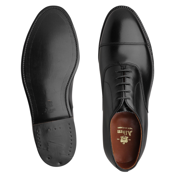 Alden オールデン 907 Straight Tip Bal ストレートチップ BLACK レザーソール MADE IN U S A正規品doeBxWQrC