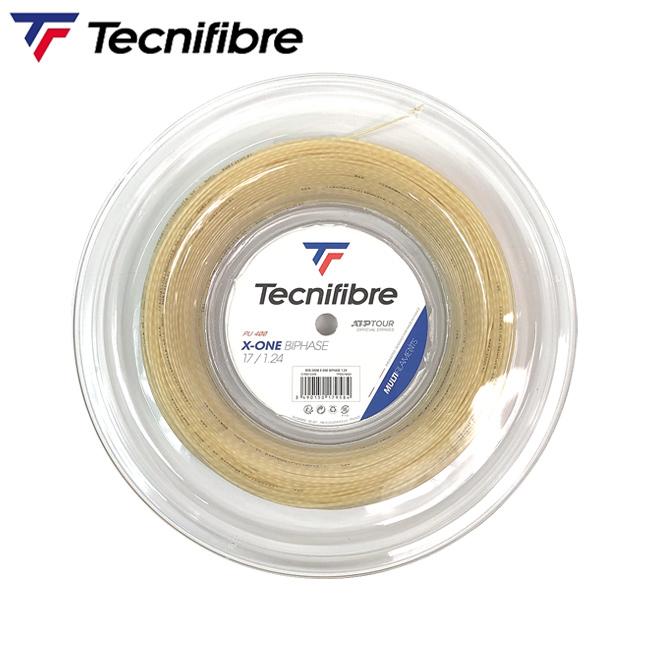 テクニファイバー(Tecnifibre)エックスワン バイフェイズ (1.24、1.30) ロール[色-ナチュラル](TFR201)l ガット ストリングス テニスガット 硬式 ロール テニス用品 ロールガット テクニファイバー 業務用ロール x-one