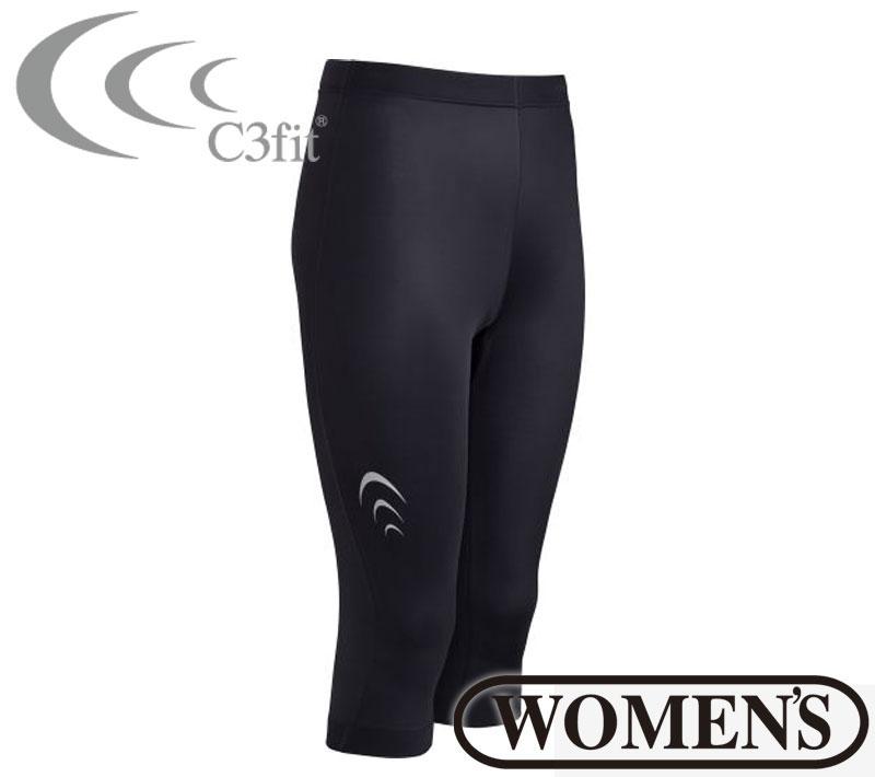 C3fit(シースリーフィット)インスピレーションカプリタイツ(レディース) スパッツ インナー スポーツウェア トレーニングウェア 女性用 3fw07122