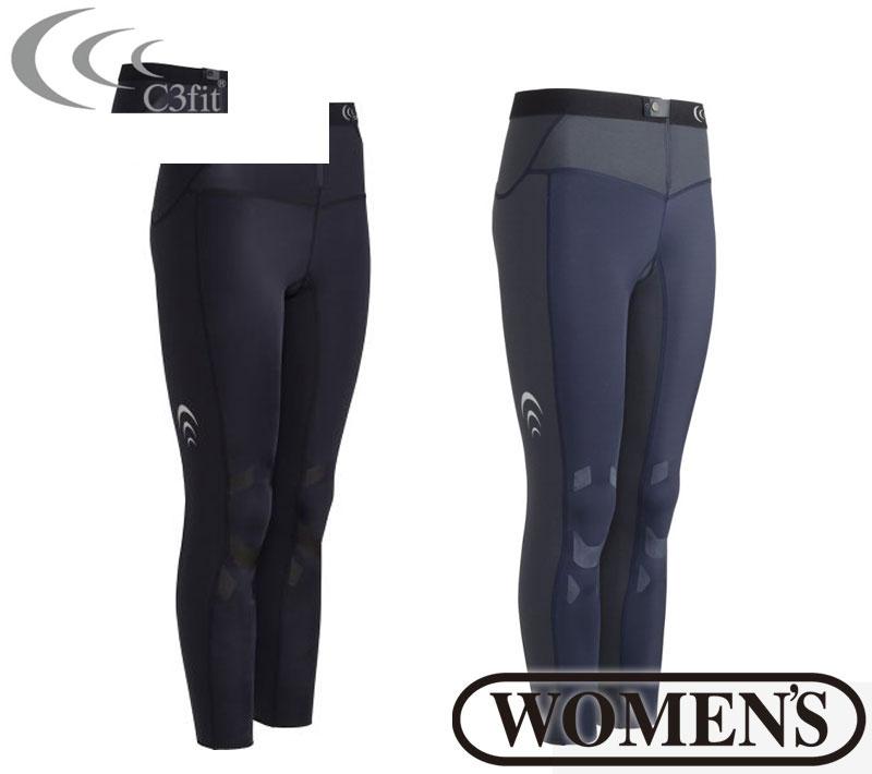 C3fit(シースリーフィット)エレメントエアーロングタイツ(レディース) スパッツ インナー 女性用 紫外線 UVカット スポーツウェア トレーニングウェア 3fw17122