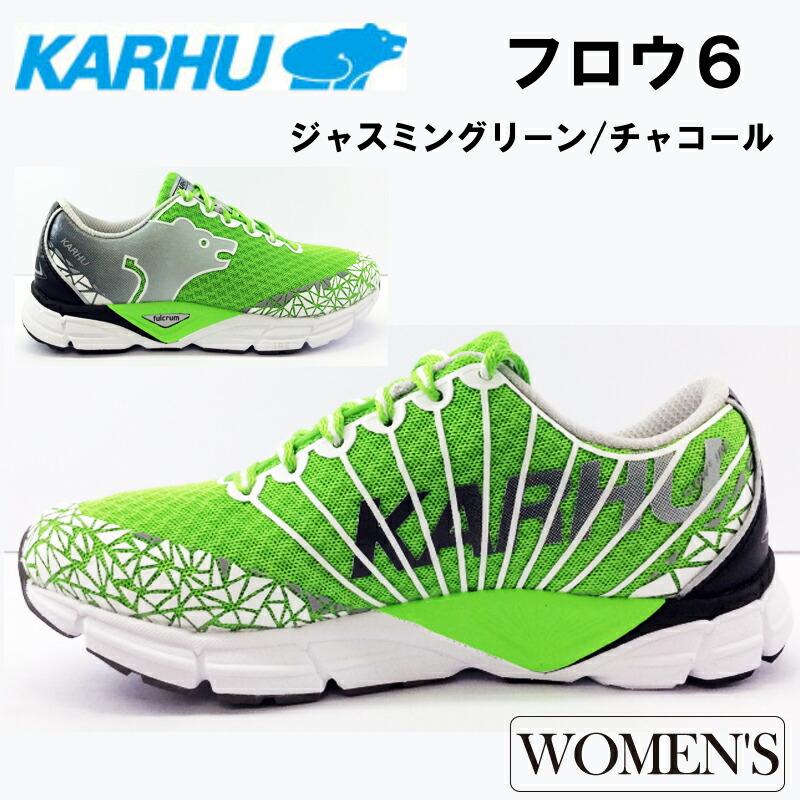 KARHU(カルフ)フロウ6 ジャスミングリーン/チャコール ランニングシューズ 女性用 スポーツ トレーニング マラソンウォーキング 靴 ジョギング kh200185