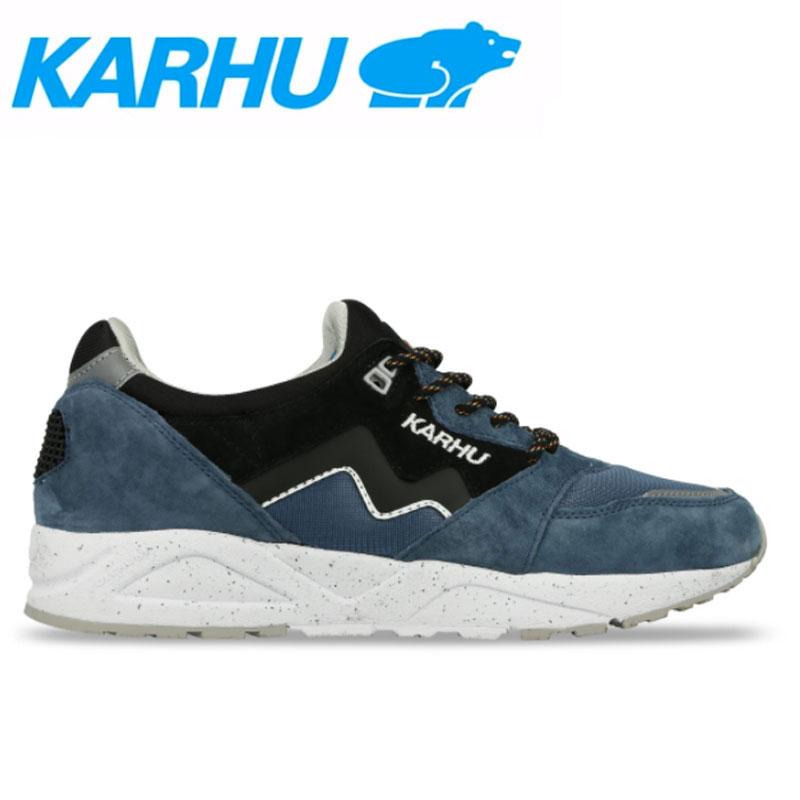 KARHU(カルフ)スニーカー レディース メンズ アリア シューズ 靴 ユニセックス 男女兼用 スウェード/メッシュリアルティール/ブラック kh803028