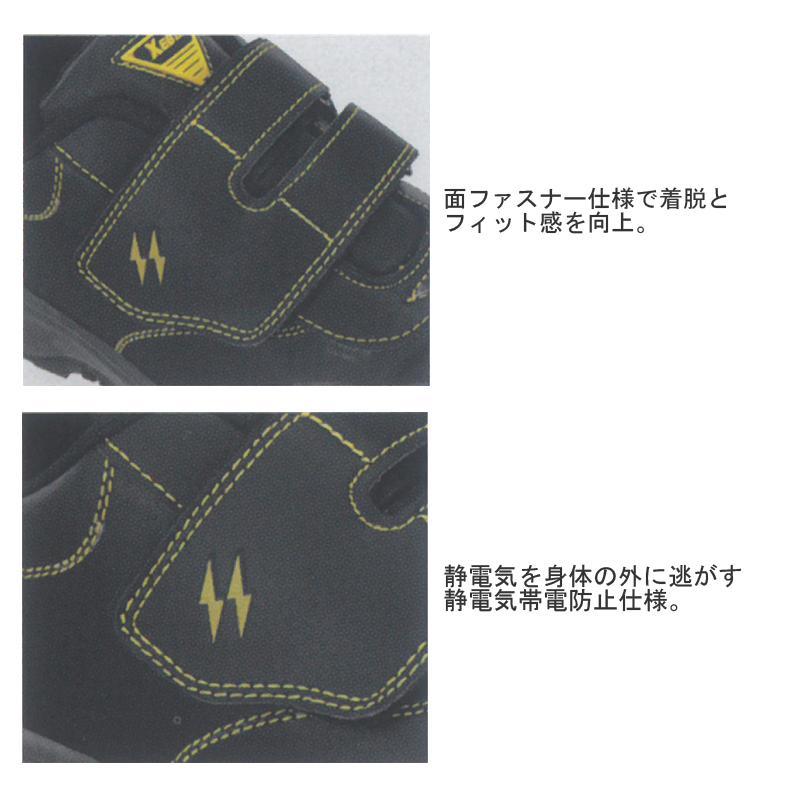 xebec ジーベック静電セフティシューズ 作業靴 安全靴 樹脂先芯 静電 852024A5L3Rj