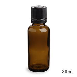 スタンダードタイプ遮光瓶(茶色)黒キャップ30ml