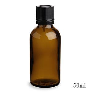 手作り化粧水の保存などにとても便利♪ スタンダードタイプ遮光瓶(茶色)黒キャップ50ml (アルコール、エタノール対応)