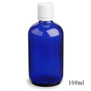 スタンダードタイプ遮光瓶(ブルー)白キャップ100ml