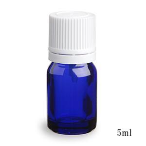 スタンダードタイプ遮光瓶(ブルー)白キャップ5ml