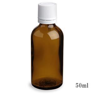 手作りマッサージオイルの保存などにとても便利♪ スタンダードタイプ遮光瓶(茶色)白キャップ50ml (アルコール、エタノール対応)