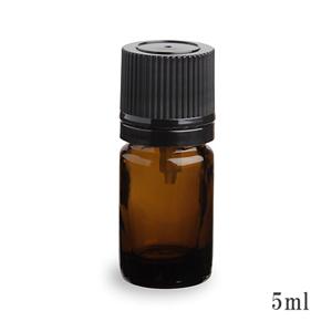 手作り香水の保存などにとても便利 スタンダードタイプ遮光瓶 茶色 アルコール 流行のアイテム 黒キャップ5ml 新作通販 エタノール対応