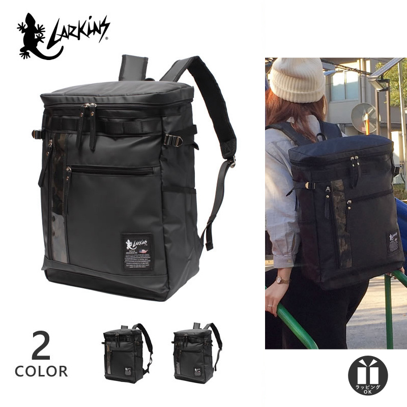 [公式] ラーキンス スクエア リュック ボックス型 リュックサック バックパック LARKiNS 撥水 防水素材 メンズ レディース 大容量 LKTI-06