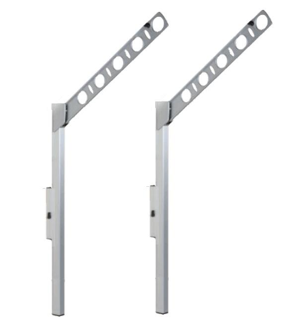 腰壁用可動式物干金物 タカラ産業(DRY・WAVE)ドライ・ウェーブSFL55 (1セット2本いり) (S)上下スライド式ロングポールタイプ