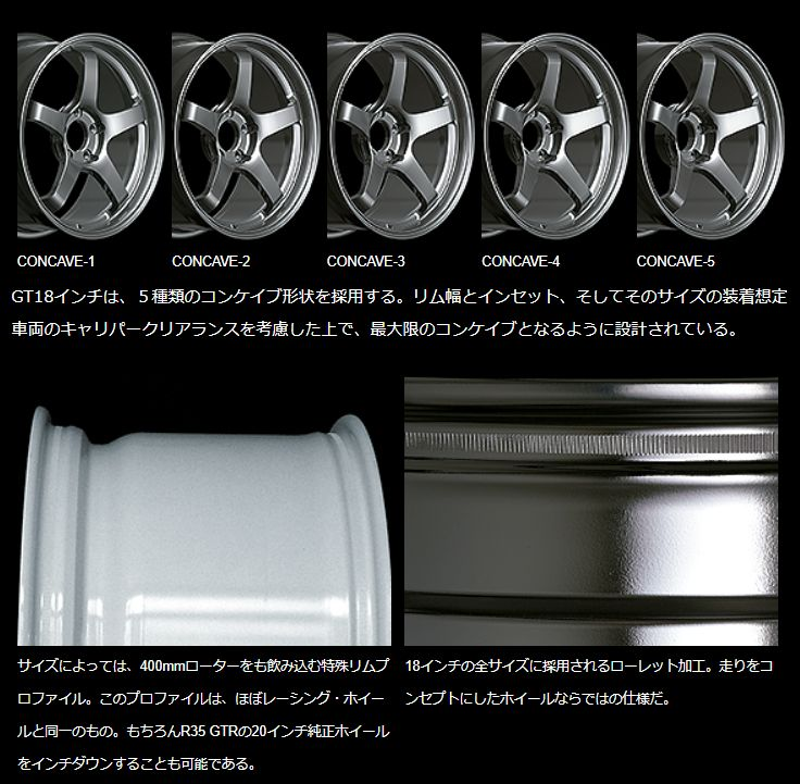 YOKOHAMA WHEEL ADVAN Racing GT for Japanese Cars 18inch 9.5J PCD:114.3 穴数:5H カラー : MMB アドバンレーシング
