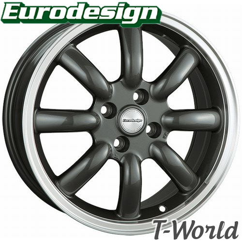 Eurodesign Classic Eight 16inch 7.0J PCD:100 穴数:4H INSET:+38 COLOR:GMRP ユーロデザイン クラシックエイト アバルト:スパイダー などに