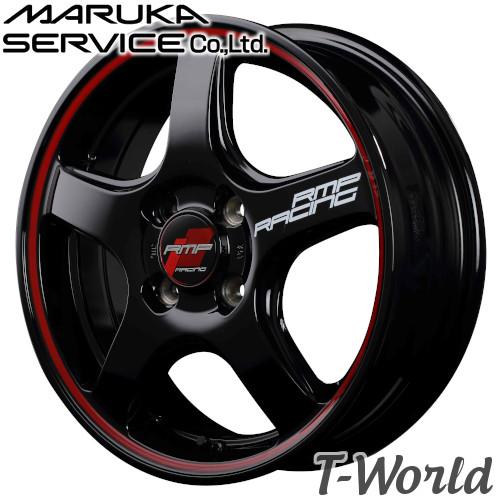 RMP RACING R50 16inch 6.0J PCD:100 穴数:4H カラー:BLACK RIM RED LINE / WHITE RIM RED LINE MARUKA MID