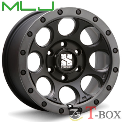 MLJ XTREME-J XJ03 16inch 8.0J PCD:139.7 穴数:6H フラットブラック/スモークフランジ エムエルジェイ エクストリームジェイ 【FJクルーザーなどに】