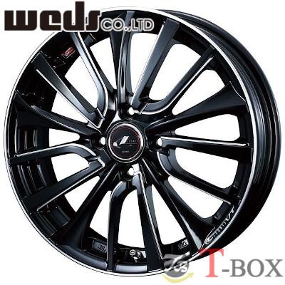 【4本特価】WEDS LEONIS VT 16inch 5.0J PCD:100 穴数:4H カラー:PBK/SC ウェッズ レオニス ブイティー