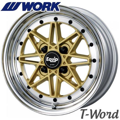 WORK EQUIP 03 (ゼロスリー) 14inch 5.5J PCD:100 穴数:4H カラー:ゴールド(GLD)/ブラックカットクリア(BP) ワーク エクイップ K-car専用