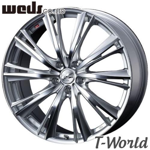 【4本セット・在庫あり即納可】 WEDS LEONIS WX 18inch 7.0J PCD:114.3 穴数:5Hインセット:+53 カラー:HSMC ダブルエックス