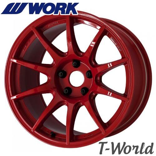 【2本セット・在庫あり即納可】 WORK M.C.O RACING Type CS 18inch 9.5J PCD:114.3 穴数:5Hインセット:+22 カラー:BRD エムシーオーレーシング・タイプシーエス