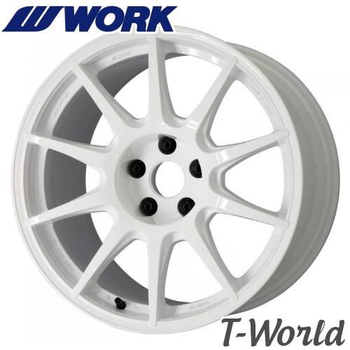 【2本セット・在庫あり即納可】 WORK M.C.O RACING Type CS 18inch 10.0J PCD:114.3 穴数:5Hインセット:+20 カラー:WHT エムシーオーレーシング・タイプシーエス