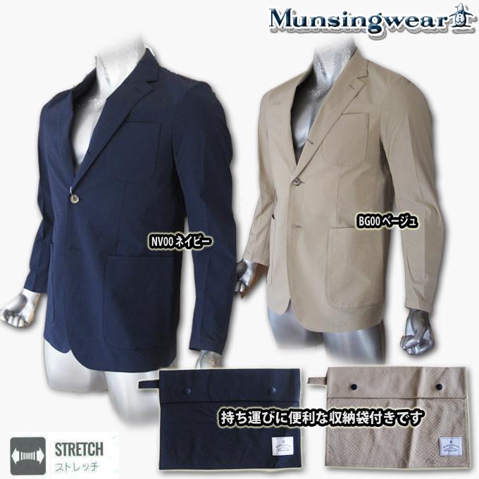【2019春夏新作★ポケッタブル】 マンシングウェア(Munsingwear) シアサッカージャケット