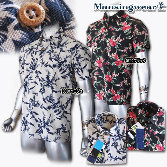 マンシングウェア(Munsingwear) ボタニカルプリントポロ