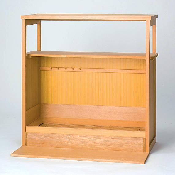 【茶道具/ 水屋道具】 組立式置水屋【国内配送料無料】【代引手数料無料】