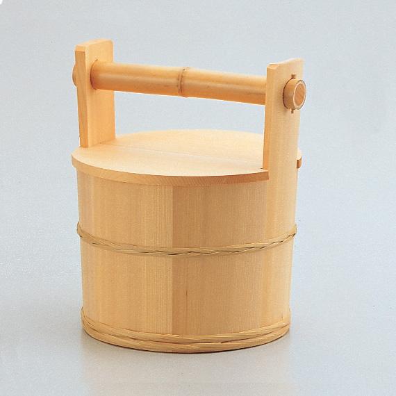 【茶道具/水屋道具】露地道具/円二作/水張桶(みずはりおけ)