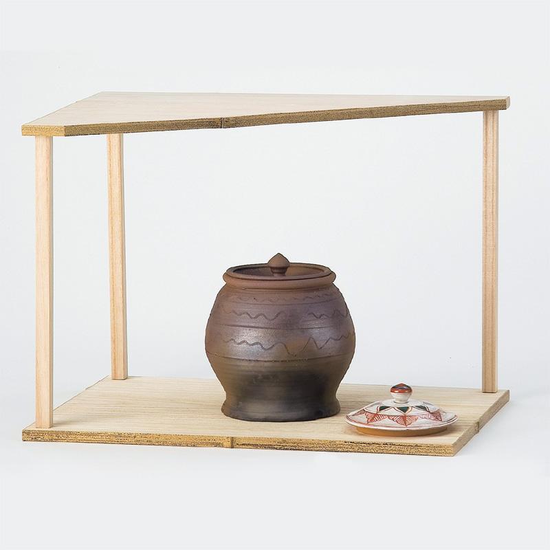 【茶道具/棚】利休好写/山里棚(桐木地・竹張砂擦)