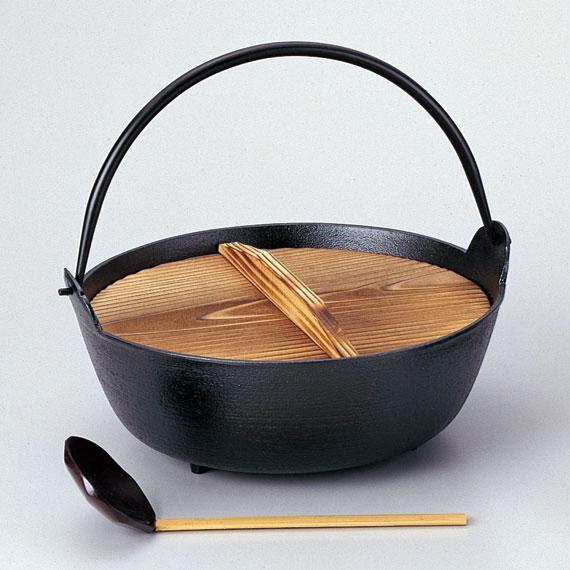【茶道具/懐石】鉄鍋 大【杓子付】