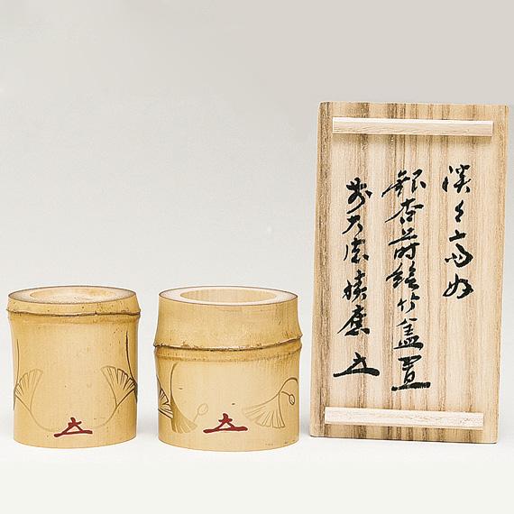 【茶道具/ 蓋置】竹蓋置 (炉用・風炉用一双)【国内配送料無料】【代引手数料無料】