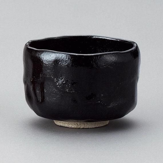 【茶道具/楽茶碗】十四代 覚入/黒茶碗 (写)