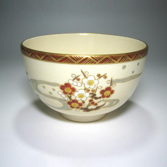 【茶道具/抹茶碗】京薩摩丸紋流水茶碗