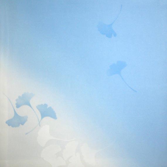 【茶道具/袱紗】徳斎帛紗(ふくさ)/裏銀杏(うらいちょう)/ブルー【国内配送料無料】