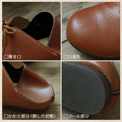 -Fold the heel, offers 2-way! from the gentle rounded foot natural mood! round toe shoes [VS--