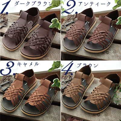 -Step lightly! the stylish lace-up a polite ☆ lace-up sandal---
