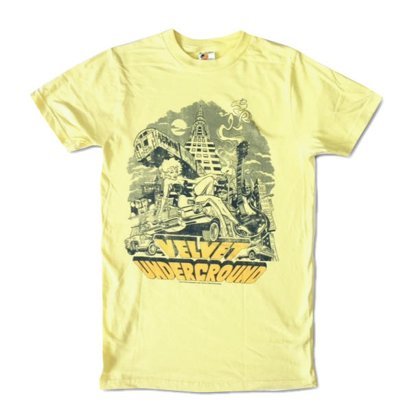 Rock T shirts band T shirt Velvet Underground and Nico Velvet Underground  yellow illustrated Empire State building 70 s ROCK T shirts men T shirts T  shirts b56dec3618c