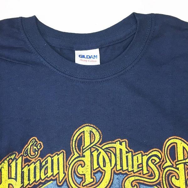 鎖頭T恤·帶T恤THE ALLMAN BROTHERS BAND Eat a Peach卡車70's深藍ROCK旅遊T恤T恤